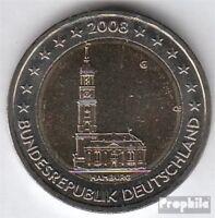 BRD (BR.Deutschland) Jägernr: 534 2008 G Stgl./unzirkuliert 2008 2 Euro Hamburge