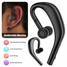 Wireless Bluetooth 5.0 Headset Stereo Earpiece Driving Trucker Earphone Earbuds
