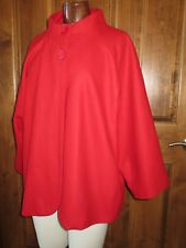 Women's Silhouettes Red Wool Coat Fully Lined Size 2X