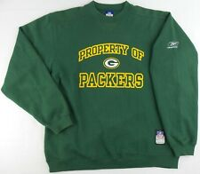 Vintage Reebok NFL Green Bay Packers Crew Neck Sweater Size Mens Medium M