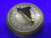 Vintage antique style solid Brass Gilbert Sundial Time reader