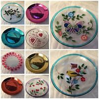 16cm Glass Candle Plates - Various designs