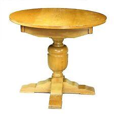 Mill collection sculpté Solide Chêne Clair circulaire réfectoire Table de salle à manger sièges 4 x
