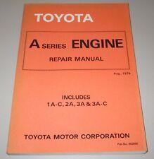 Repair Manual Toyota Tercel A Series Engine Motor AL 10 11 12 August 1979!