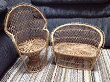 Handmade Rattan Doll Chair & Sofa