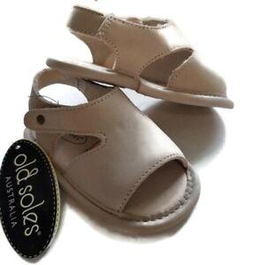 Australia Old Soles Leather Sandals Bambini Digger Elephant Grey EU 18/US 2