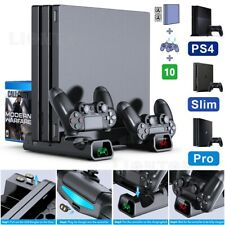 PS4/PS4 Pro/ PS4 Slim Controller Console Vertical Cooling Stand Charging Station