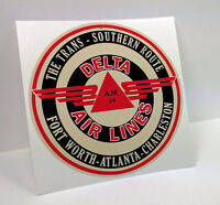 DELTA Airlines Southern Route Vintage Style Decal, Vinyl Sticker, Luggage Label
