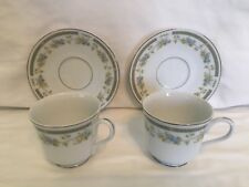 Set of 2 Sango Four Crown Barclay 519 Blue & Yellow Floral Coffee Cup and Saucer