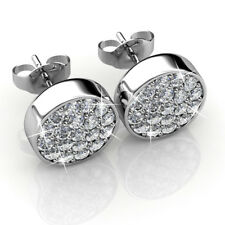 PAVE EARRINGS FT CRYSTALS FROM SWAROVSKI KCE804WG