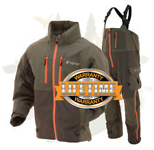 Frogg Toggs Pilot II Guide Fishing Rain Suit Stone & Taupe Jacket & Bibs S SM