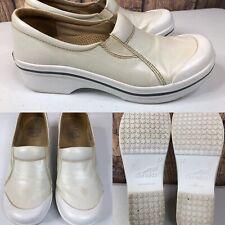 Womens DANSKO White viv Coated Canvas Vegan Clogs Sneaker Shoes SIZE 37 US 6.5-7