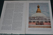 1935 magazine article, NEPAL, people, places, color photos tiger hunting too