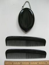 Quikey Rubber Coin Purse Holder & 2 Pocket Combs Stocking Stuffer Gift USA Made