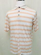 Jos. A. Bank Leadbetter Golf Men's White Striped Short Sleeve Polo Shirt M