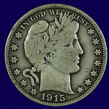 Barber Silver Half Dollar,1915 P Fine   Lot # 9002-270-013