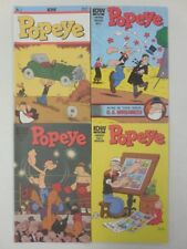 4x POPEYE Comic # 1  2 3  5 ~ ALL NEW STORIES ~ IDW 2012 Wimpy The JEEP Sea Hag
