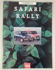 1993 GMC Safari Rally Van Truck Dealership Sales Brochure Catalog 31pgs