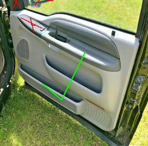 1999 - 2007 Ford F250 F350 Super Duty door panel Front Passenger Grey