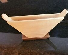 Solid Hardwood Filter Holder, Handles, Sides Maple, Walnut Base (Melitta Type)