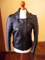 vintage 80`s RÖMER Motorrad Lederjacke alte motorcycle leather jacket punk 42