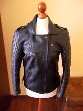 vintage 80`s RÖMER Motorrad Lederjacke motorcycle leather jacket punk 42