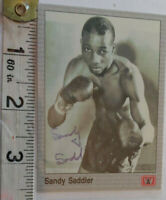 RARE SANDY SADDLER HAND SIGNED BOXING CARD & PSA/DNA COA - OFFERS ACCEPTED