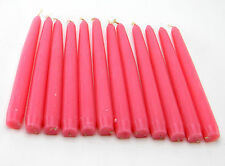 """12 PRICE'S VENETIAN TAPER PINK CANDLES OLD ROSE 8"""" BURN 5 HOURS APPROX EACH MELT"""