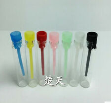 100 EMPTY SMALL GLASS PERFUME SAMPLE VIAL BOTTLE NEW 1ml 2ml 3ml assorted color