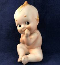 Vintage Bisque Kewpie Doll Sucking Thumb With Blue Wing Baby Doll Figurine Kw228