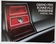 PONTIAC GRAND PRIX 1986 dealer brochure - French - Canada - ST1002001018