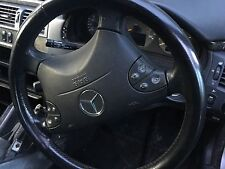 Mercedes E Class W210 Black Leather Steering Wheel Complete As Shown 1999-2002/3