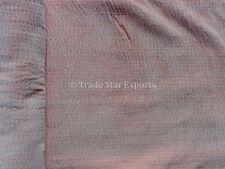 Indian Pink Velvet Kantha Quilt Twin Handmade Bedding Throw Reversible Bedspread