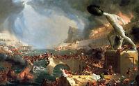 """Art Oil painting Thomas cole - The Course of Empire Destruction - Massacre 36"""""""