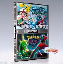 Pokemón 5: Héroes y Pokemon 6: Alma Gemela Español Latino 2 Peliculas en 1 DVD