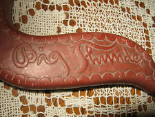 """CATLINITE (PIPE STONE) CARVED KNIFE<>ITS INCREDIBLY CARVED""""BIG THUNDER""""ON HANDLE"""