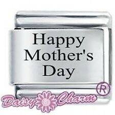 HAPPY MOTHER'S DAY * DAISY CHARM Fits Nomination Classic Size Italian Charms