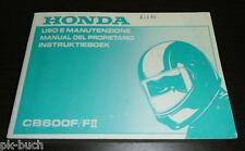 Uso E Manutenzione Manual Del Propietario Instruktieboek Honda CB 600 FII 1999!!
