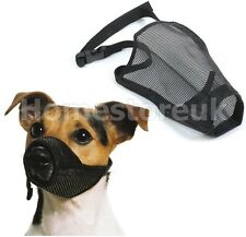 PET DOG PUPPY DOGGY SAFETY MUZZLE MESH COVER BARK BITE CHEW CONTROL PROTECTION
