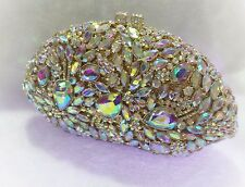 Gold Color~New~Handmade Austria Crystal Evening Purse Clutch Bag☆Free Shipping☆