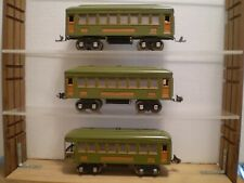 Lionel Prewar #610 (2) Pullman and #612 Observation Cars. Nicely Repainted.