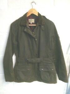 Hoggs of Fife green wax jacket size 12