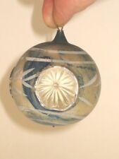 German Antique Glass Figural Triple Indent Vintage Christmas Ornament 1930's
