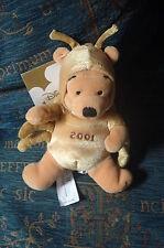 "DISNEY Store Winnie the Pooh 8"" giocattolo 21st secolo 2001 Bean MILLENIUM Regalo"