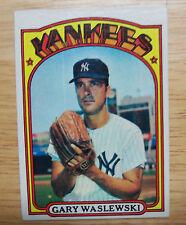 1972 Topps Baseball Card # 108 Gary Waslewski  NEAR MINT
