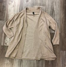 Maurices Beige Open 3/4 Sleeve Cardigan Sweater Size M