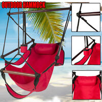 Deluxe Hammock Hanging Rope Patio Tree Sky Swing Chair Seat Outdoor Porch Lounge