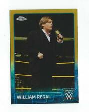 2015 Topps Chrome WWE Gold Refractor #75 William Regal /50