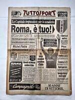 TUTTOSPORT 9 MAGGIO 1983 SCUDETTO ROMA CAMPIONE D'ITALIA BRUNO CONTI TOTTI 05