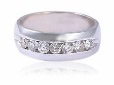 Pave 0.97 Cts Round Brilliant Cut Diamonds Men's Engagement Ring In 14Karat Gold